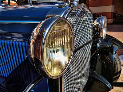 Photograph - Blue Antique Auto by Nora Martinez