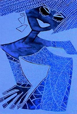 Archetype Painting - Blue Aphrodite by Tetka Rhu