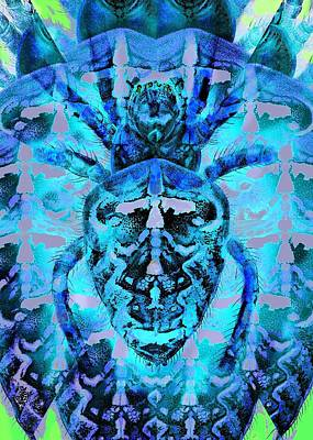Blue Arachnid Art Print by Diane Addis