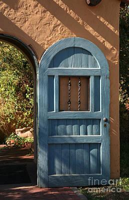 Blue Arch Door Art Print by Timothy Johnson