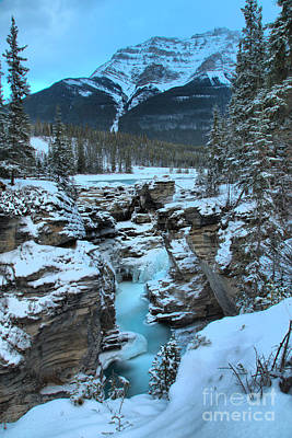 Photograph - Blue Athabasca Falls Ice Flow by Adam Jewell