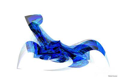 Blue Attitude Art Print by Thibault Toussaint