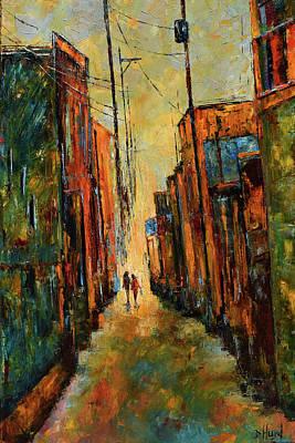 Painting - Blue Bag by Debra Hurd