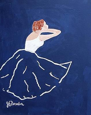 Painting - Blue Ballerina by Joseph Frank Baraba