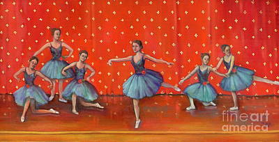 Painting - Blue Ballerinas by Marlene Book