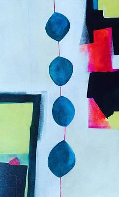 Yello Painting - Blue Balloons  by Steph Bernell