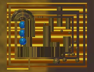 Future Tech Digital Art - Blue Balls In Night Lights by Alberto RuiZ