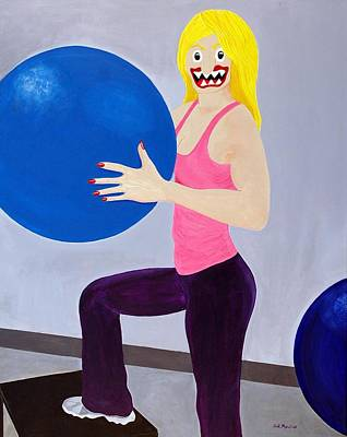 Funism Painting - Blue Balls by Sal Marino