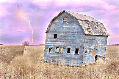 Photograph - Blue Barn by James BO  Insogna