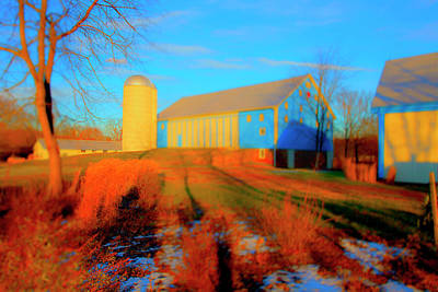 Photograph - Blue Barn by Jan W Faul
