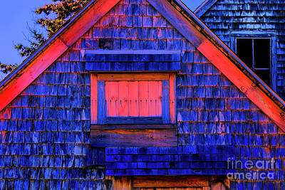 Photograph - Blue Barn by Rick Bragan