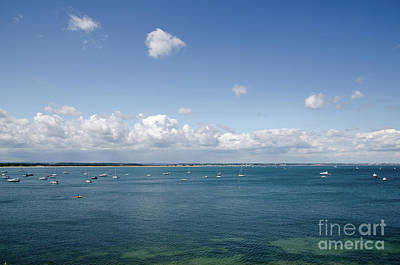 Blue Bay Seascape From The Isle Of Purbeck Dorset England Uk Art Print by Andy Smy