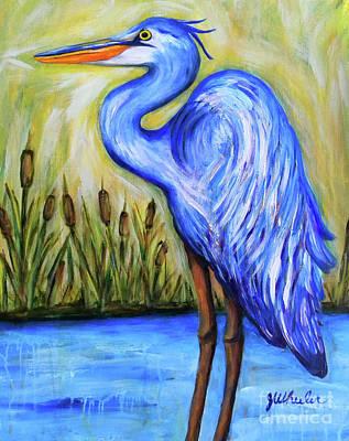 Painting - Blue Bayou by JoAnn Wheeler