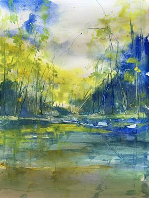Arkansas Painting - Blue Bayou by Robin Miller-Bookhout