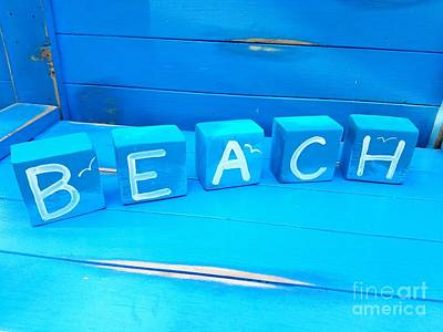 Blue Beach Blocks Art Print by Scott D Van Osdol