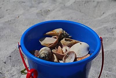 Photograph - Blue Beach Bucket by Michiale Schneider