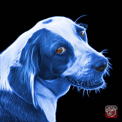 Painting - Blue Beagle Dog Art- 6896 - Bb by James Ahn