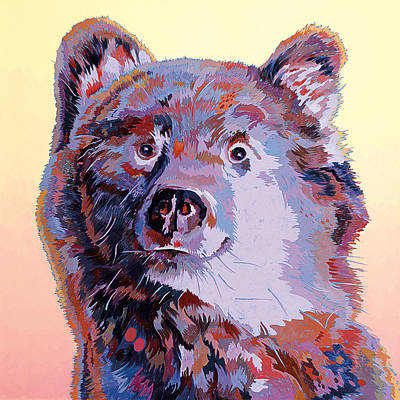 Blue Bear Art Print by Bob Coonts