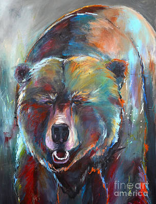 Painting - Blue Bear by Cher Devereaux