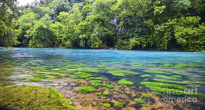 Photograph - Blue Beauty  Big Springs  by Peggy Franz