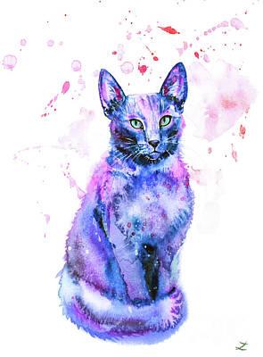 Painting - Blue Beauty by Zaira Dzhaubaeva