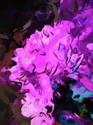 Digital Art - Blue Behind Pink by Jackie VanO