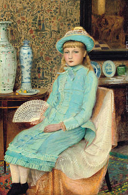 Ceramics Painting - Blue Belle by John Atkinson Grimshaw