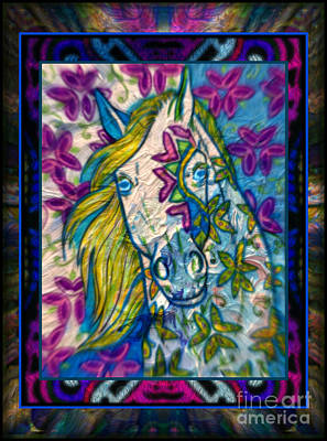 Mixed Media - Blue Belle by Wbk