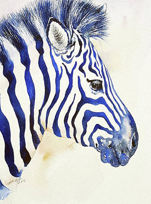 Painting - Blue Ben Zebra by Arti Chauhan