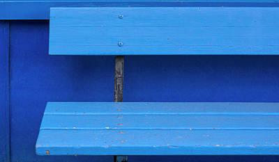 Photograph - Blue Bench 365-310 by Inge Riis McDonald