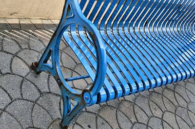 Photograph - Blue Bench by JAMART Photography