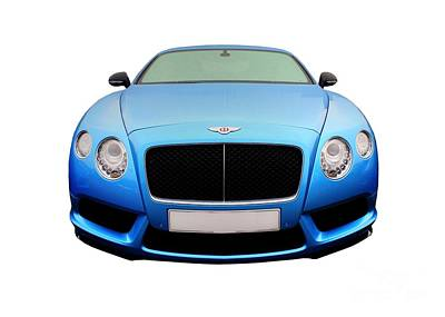 Photograph - Blue Bentley by Vicki Spindler