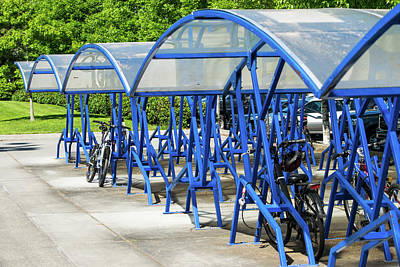 Photograph - Blue Bicycle Berth by Tom Cochran