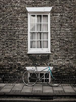 Blue Bicycle, Cambridge, England Art Print by Carol Leigh
