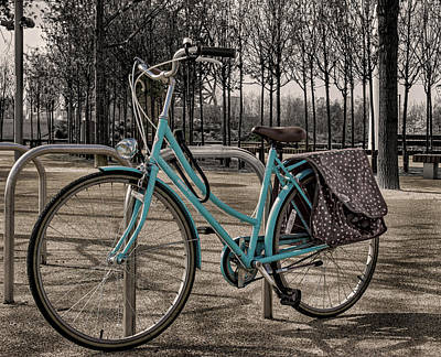 Stratford Photograph - Blue Bicycle by Martin Newman