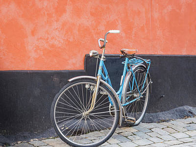 Photograph - Blue Bicycle by Robin Zygelman