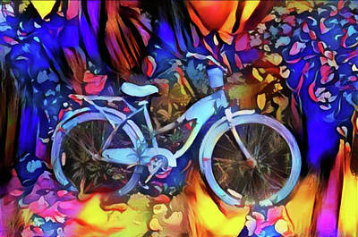Painting - Blue Bike by Bill Cannon