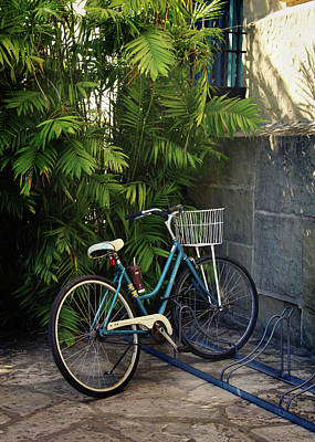 Photograph - Blue Bike-  By Linda Woods by Linda Woods