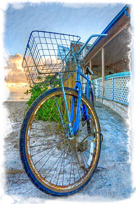 Florida Bridge Photograph - Blue Bike by Debra and Dave Vanderlaan