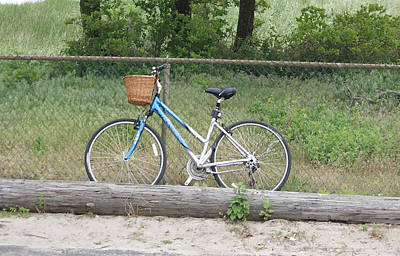 Photograph - Blue Bike On The Sand by Margie Avellino