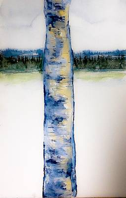 Painting - Blue Birch Winter by Desmond Raymond