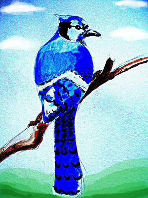 Blue Bird Art Print by Alfredo Lozano
