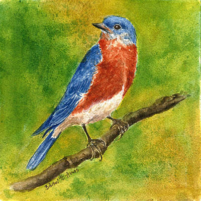 Painting - Blue Bird by Barbel Amos