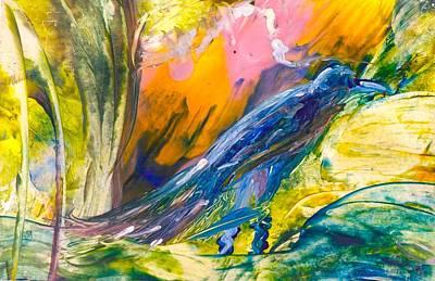 Painting - Blue Bird Has Spoken by Brenda Robinson