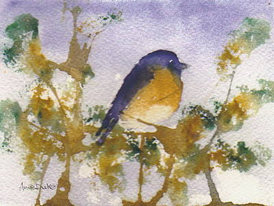 Painting - Blue Bird In Waiting by Anne Duke