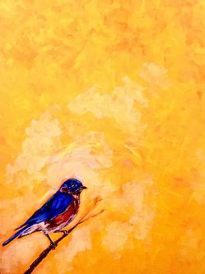 Painting - Blue Bird by Joel Tesch