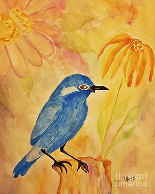 Painting - Blue Bird by Maria Urso