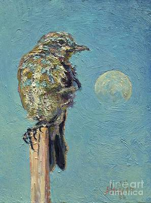 Painting - Blue Bird Moon by Patricia A Griffin