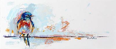 Blue Bird Of Happiness By Kim Guthrie Art Original