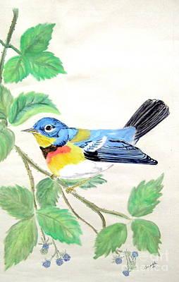 Seeker Mixed Media - Blue Bird Of Happiness by Nancy Rucker